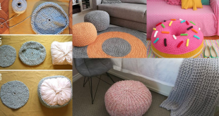 how to crochet a floor pouf