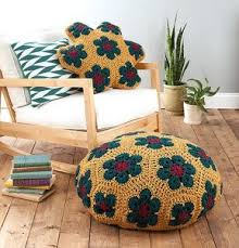 how to crochet a floor pouf 8