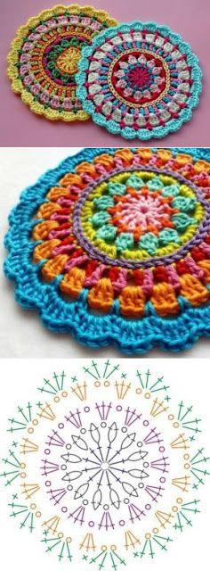 how to crochet easy mandala 2