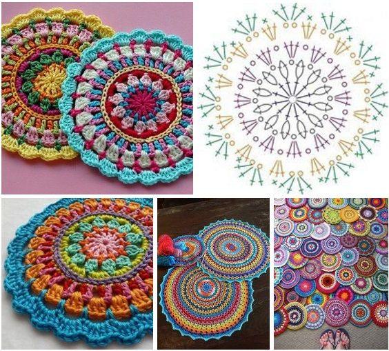 how to crochet easy mandala 6