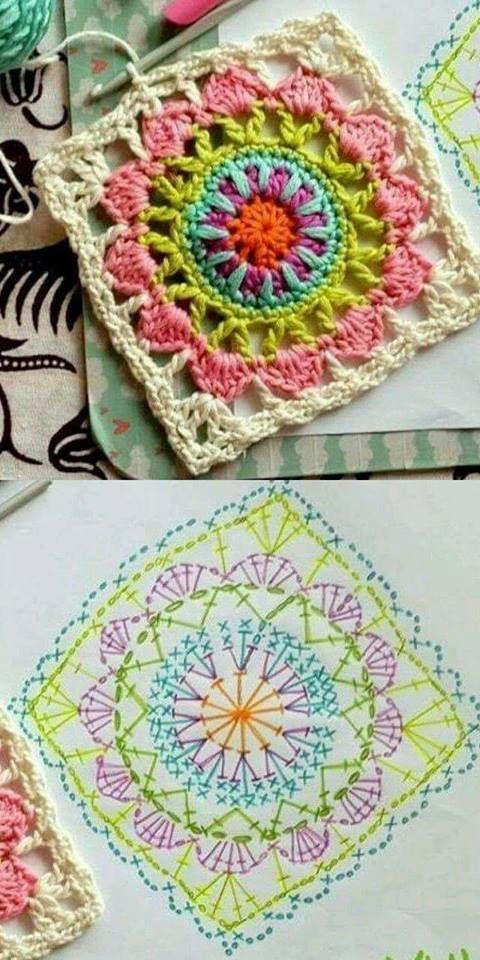 how to crochet easy mandala 8