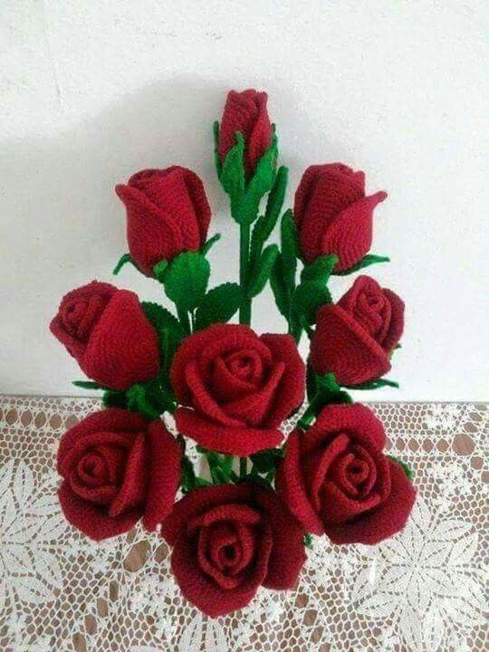 how to crochet roses 3