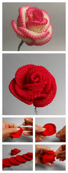 how to crochet roses 8