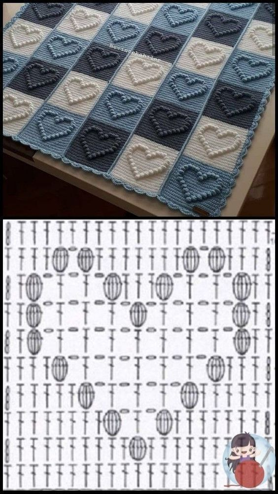 how to crochet the blanket stitch 5
