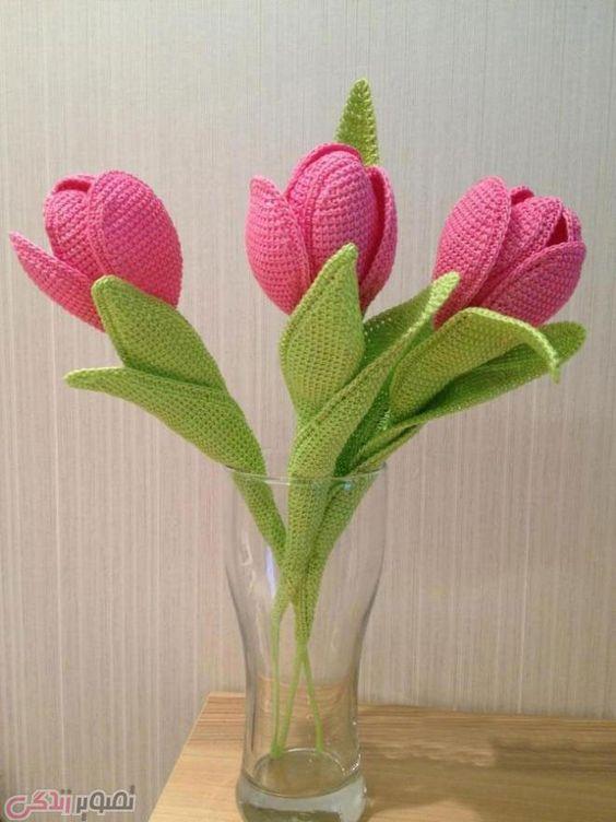how to crochet tulips tutorial 3