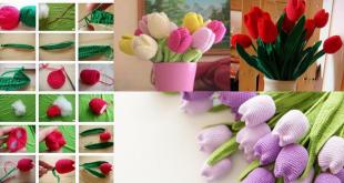 how to crochet tulips tutorial