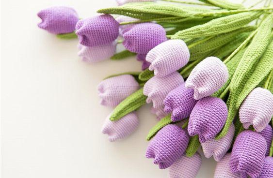 how to crochet tulips tutorial 5