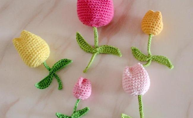 how to crochet tulips tutorial 6
