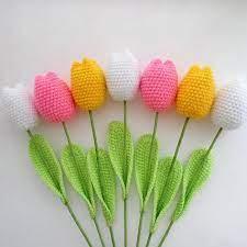 how to crochet tulips tutorial 7