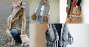 how to make a crochet scarf with pockets
