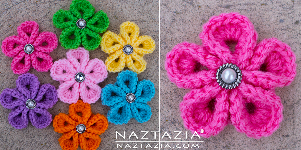 Crochet Japanese Flower Free Pattern