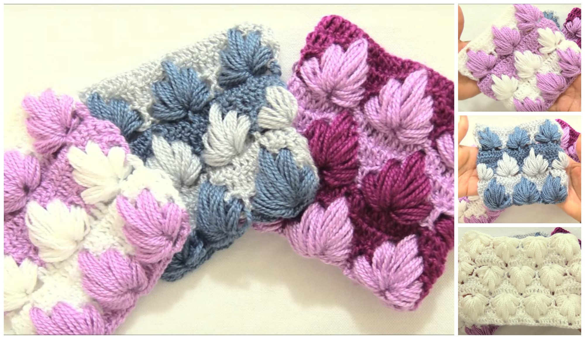 Crochet Leaves Stitch Square