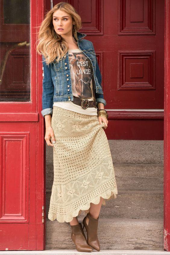 long crochet skirt 1
