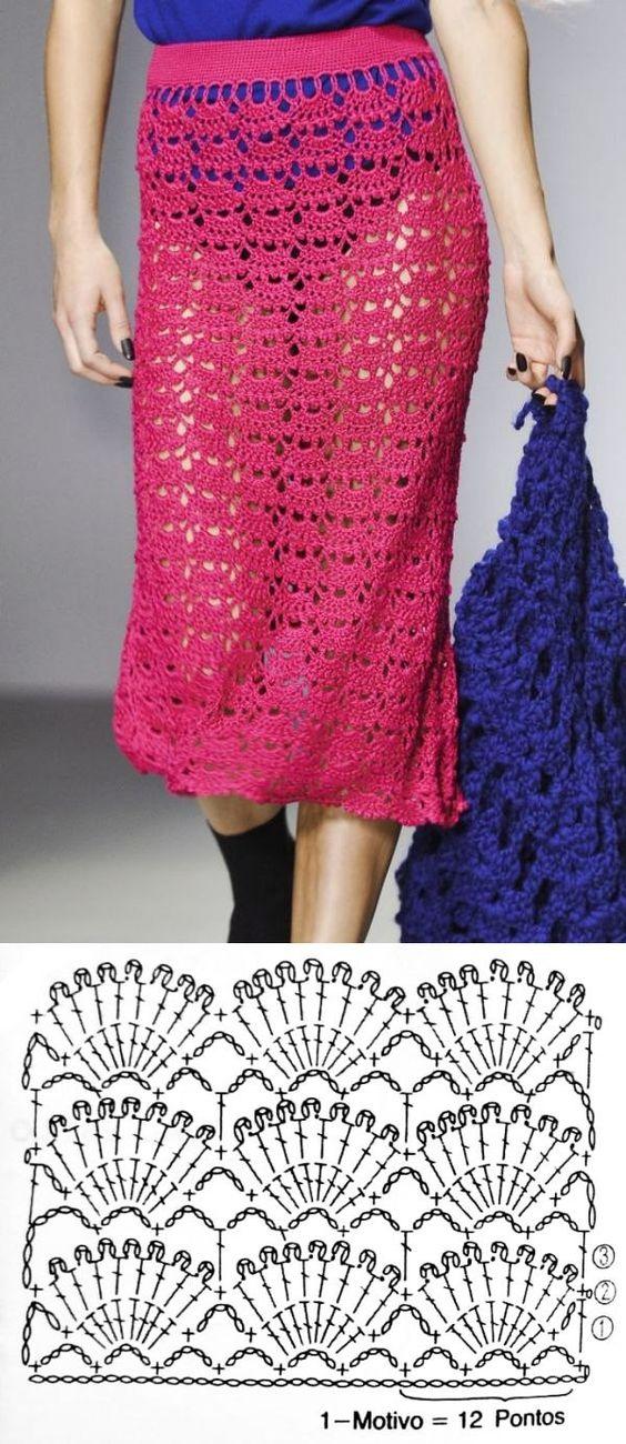long crochet skirt 3