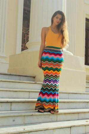 long crochet skirt 4