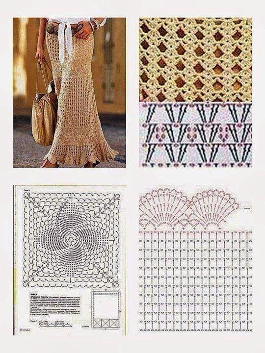 long crochet skirt 5