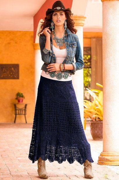 long crochet skirt 6