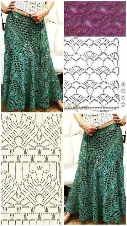 long crochet skirt 7