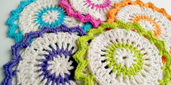 lotus bloom dishcloths