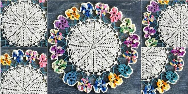 pansy doily crochet