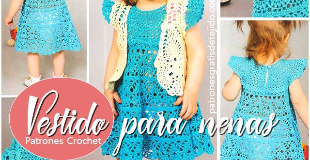 patrones vestido crochet nena