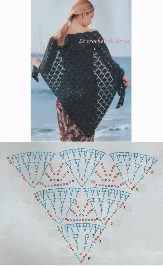 pattern crochet shawl 3