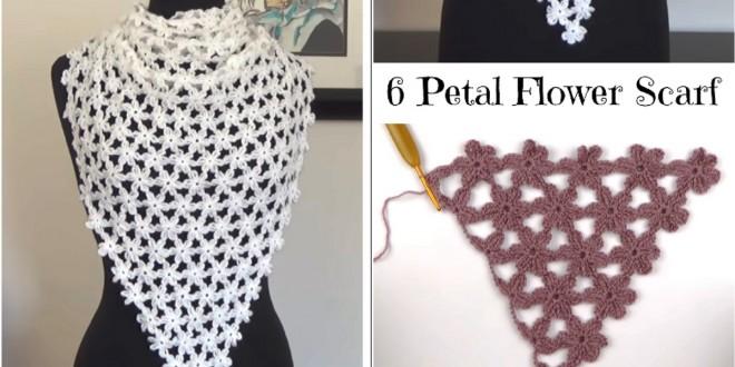 petal flower scarf