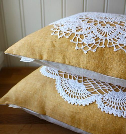 pillows decorated with crochet 7