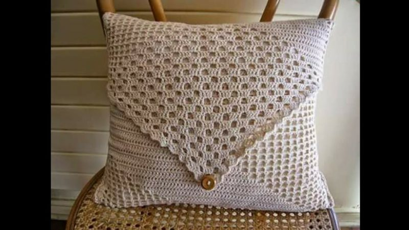 pillows decorated with crochet 9