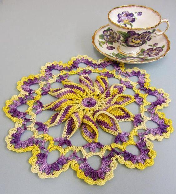 pinwheel doily pattern crochet 4