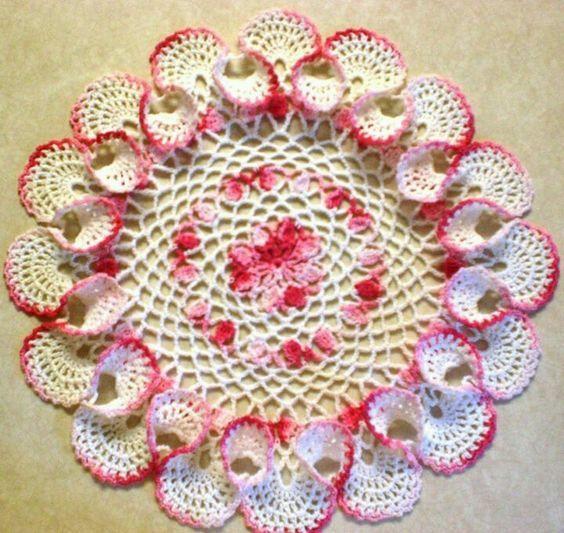 pinwheel doily pattern crochet