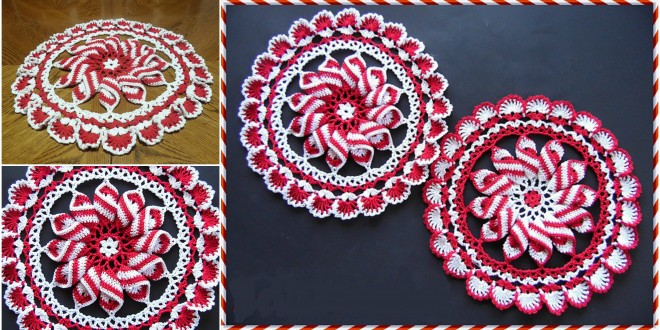 pinwheel peppermint crochet