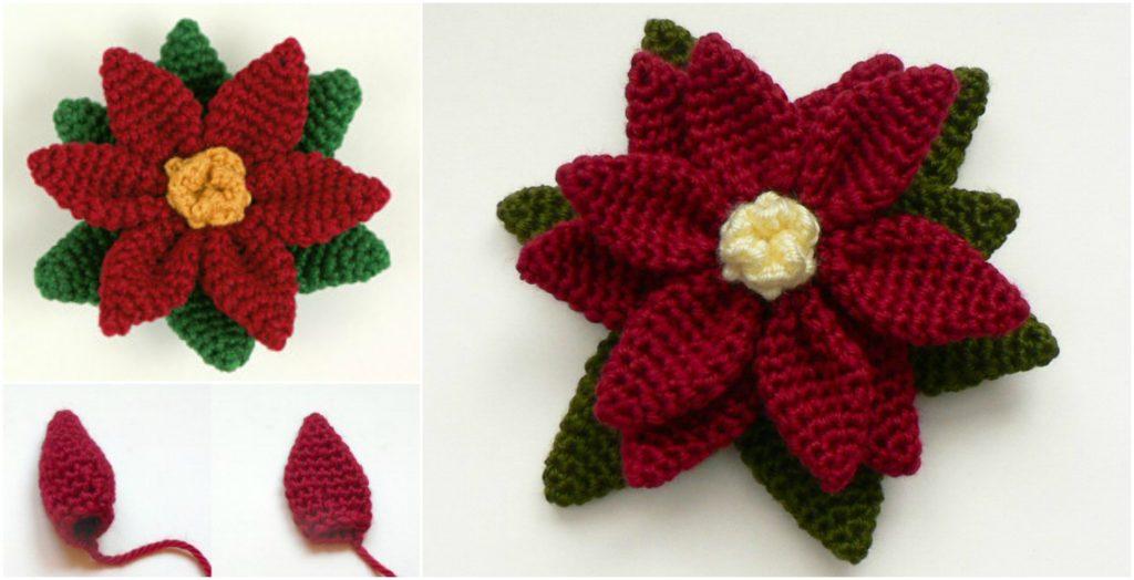 Crochet Poinsettia Flower