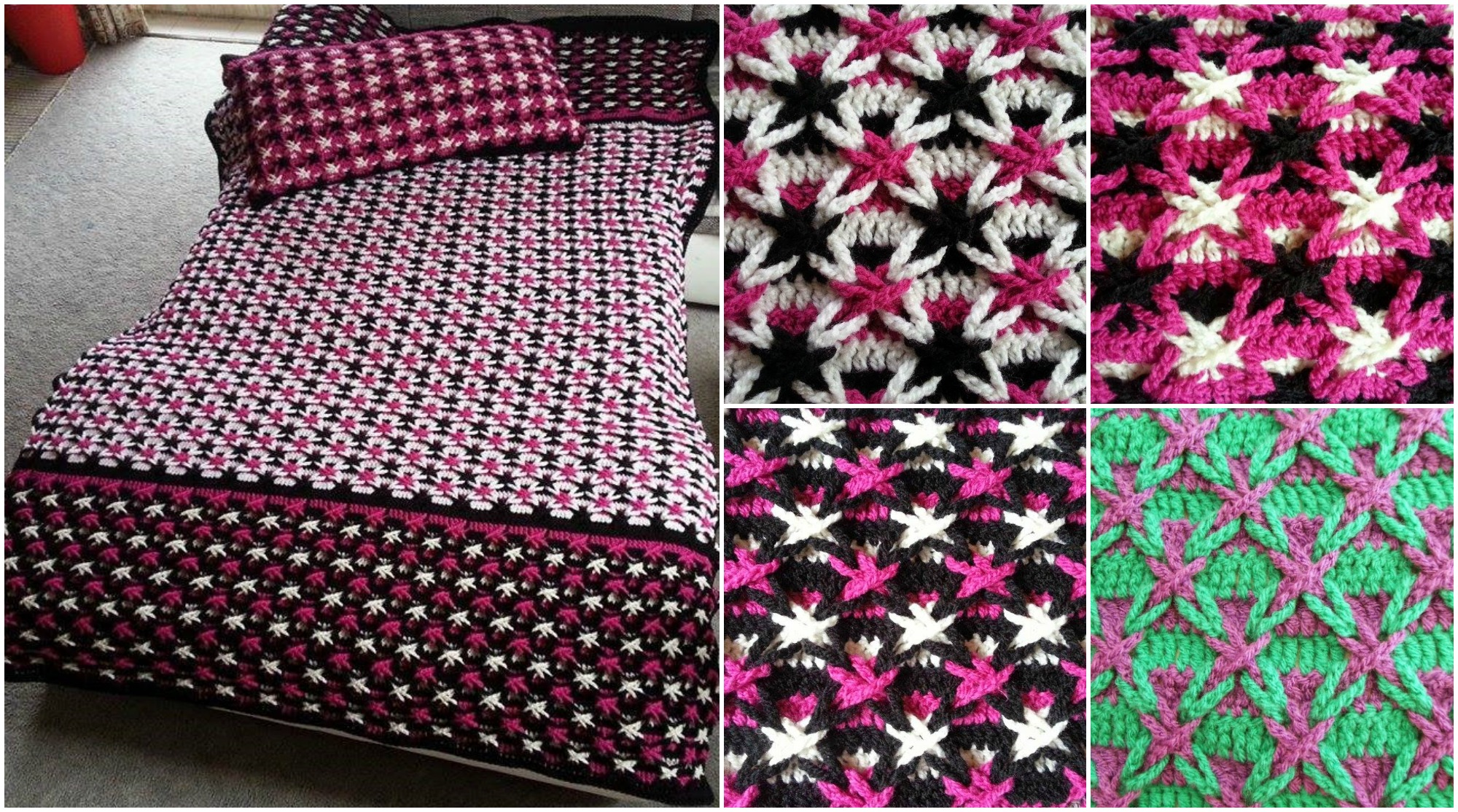 Free Crochet Pattern For Polish Star : Polish Star Stitch Blanket