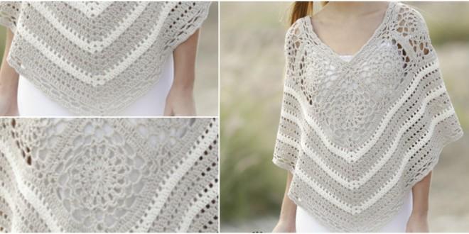 poncho squares lace