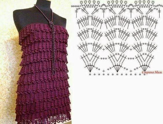 pretty short crochet dresses patterns 6