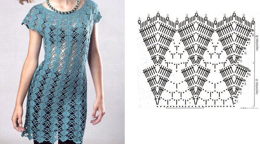 pretty short crochet dresses patterns 7