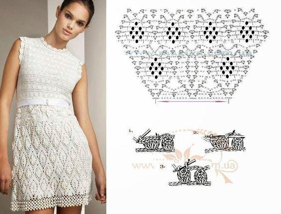 pretty short crochet dresses patterns 9