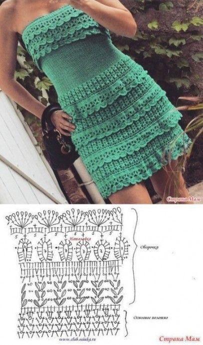 pretty short crochet dresses patterns