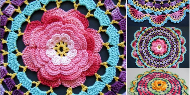 radiant rose mandala crochet