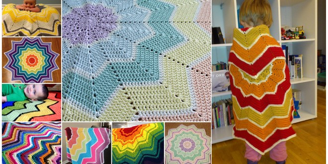 rainbow riple blanket