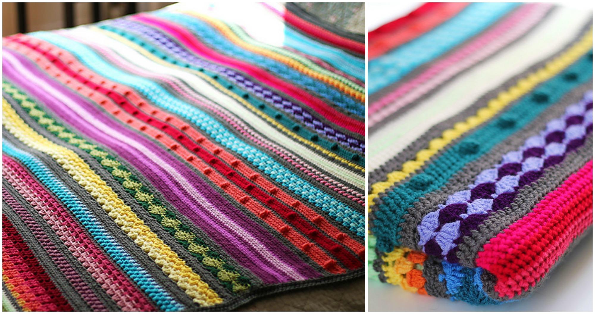 Crochet Rainbow Sampler Blanket