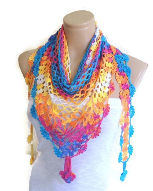 rainbow shawl tutorial 2