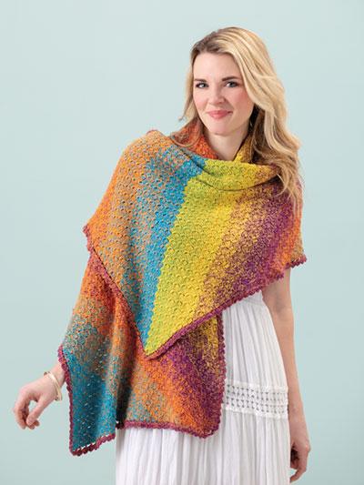 rainbow shawl tutorial 3