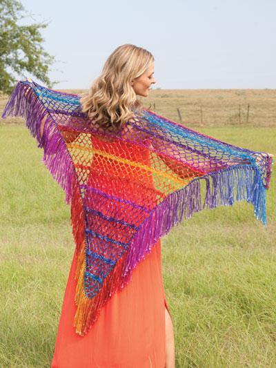 rainbow shawl tutorial 4