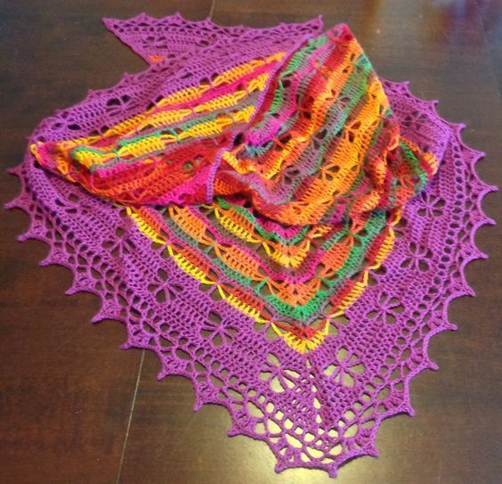 rainbow shawl tutorial 5