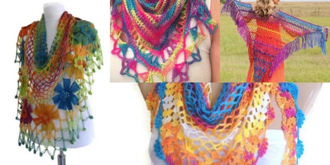 rainbow shawl tutorial