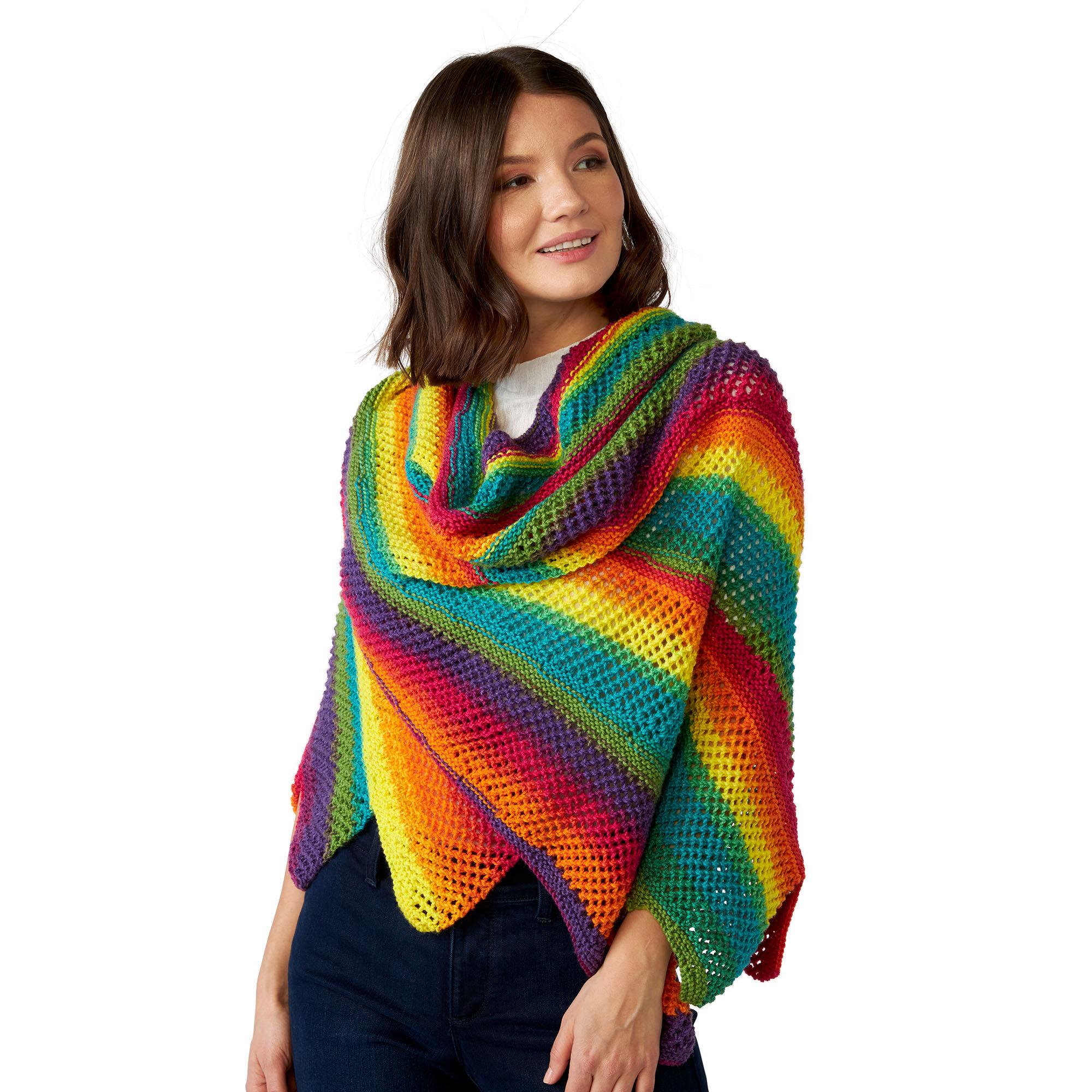 rainbow shawl tutorial 7