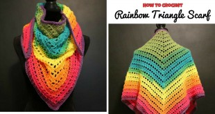 rainbow triangle scarf