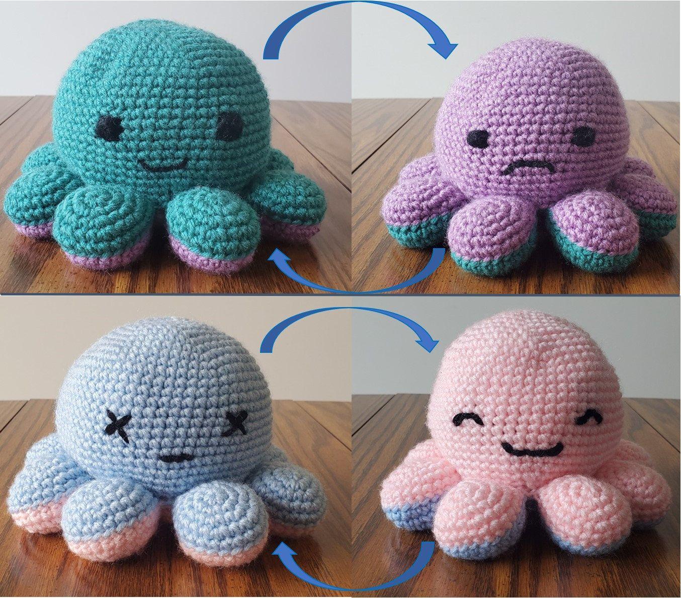 reversible crochet octopus tutorial 1